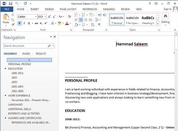 hasil salin pdf di word 2013