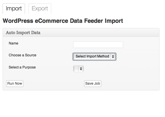 impor menggunakan wp ecommerce feeder