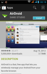 instal airdroid