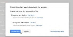 kirim file dengan hak google drive