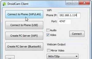 koneksi wifi untuk droidcam