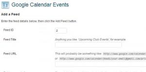 menambahkan feed google calendar