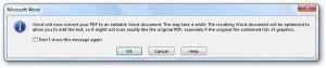 pesan peringatan konversi pdf