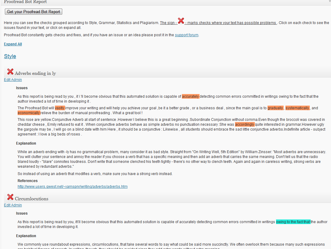 plugin wordpress proofread bot
