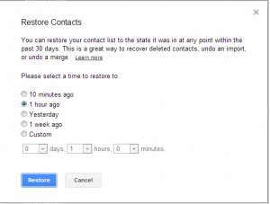 restore backup kontak google
