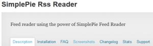 simplepie rss reader