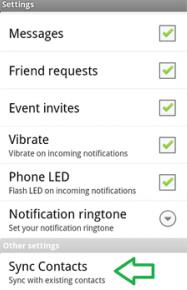 sync kontak facebook dengan android