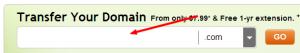 transfer domain ke godaddy
