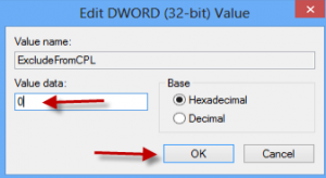 ubah nilai excludefromcpl dari 1 jadi 0