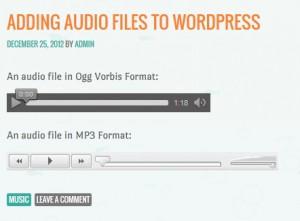 embed audio di wordpress