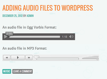 embed audio di wordpress