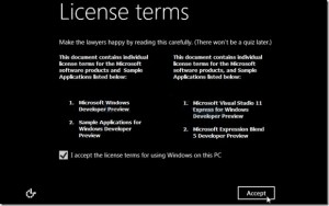 license terms windows 8
