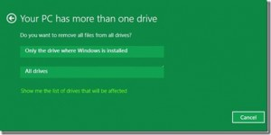 memilih drive windows 8
