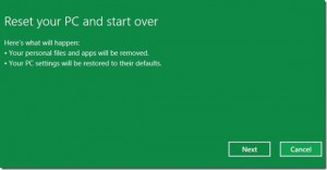 reset komputer windows 8