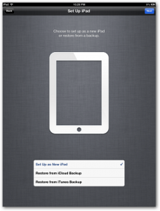setting ipad baru