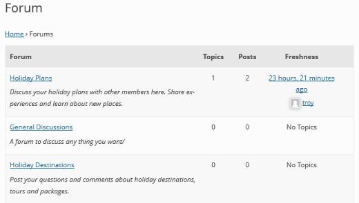 halaman utama forum bbpress