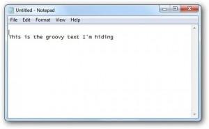 menyembunyikan teks