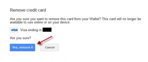 menghapus kartu kredit