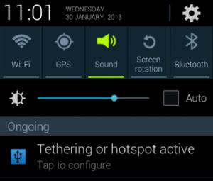 notifikasi tethering