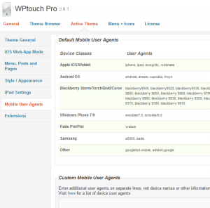 wptouch pro mobile user agents