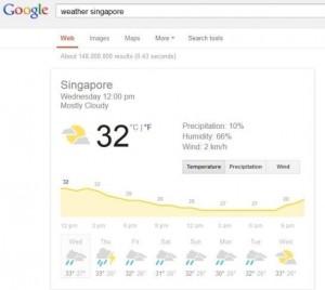 cek cuaca di google