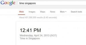 cek waktu di google
