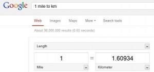 mengkonversi jarak di google