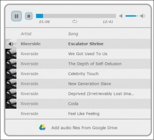 google drive mp3 player playlist