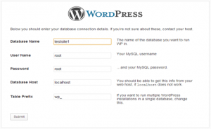 database wordpress mamp