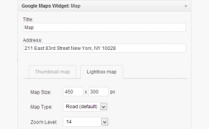 setting google map widget