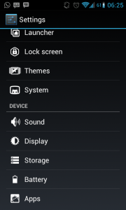 menu storage android ics