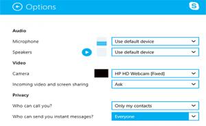 pilihan skype windows 8