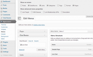 tambah menu item chatroom