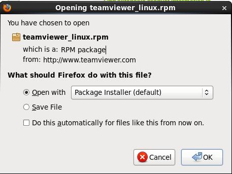 membuka rpm teamviewer