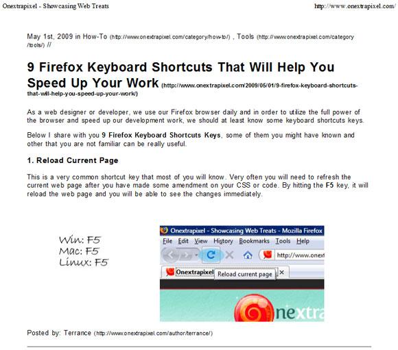Cara Membuat Print CSS Sederhana Untuk Situs Anda
