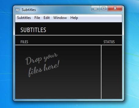 drop file untuk mencari subtitle