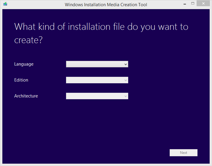 Isi file Windows 8.1 yang diinginkan