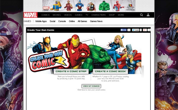 create your own comic marvel