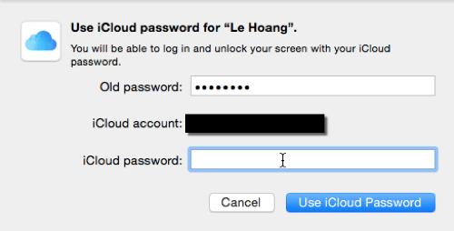 memakai password icloud
