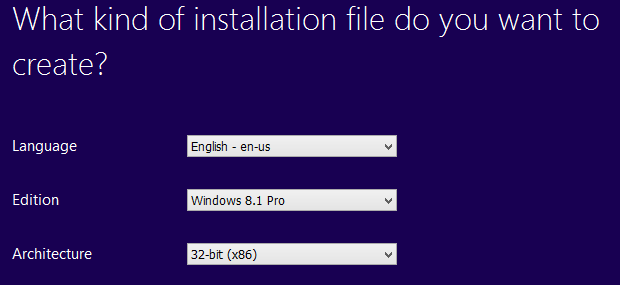 pilihan sebelum download windows 8.1