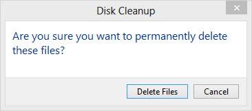 konfirmasi hapus file di disk-cleanup