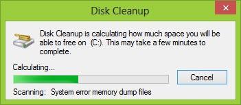 menghitung ruang drive c