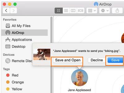 simpan file yang diterima di mac
