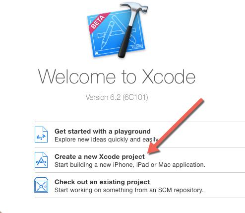 membuat projek baru di xcode