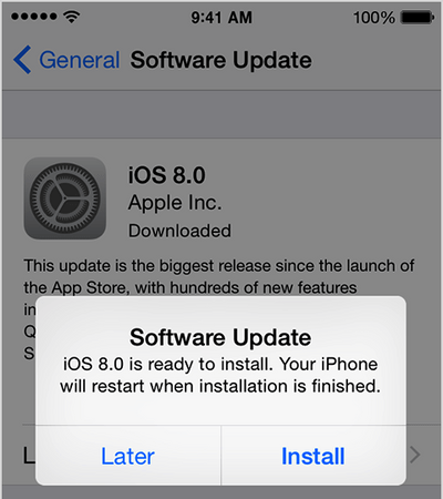 update software ios