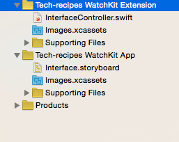 watchkit extension dan watchkit app