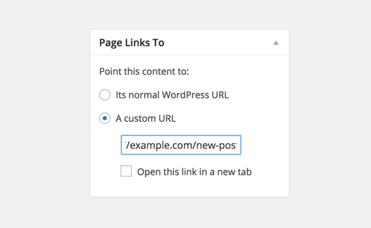 page links to plugin