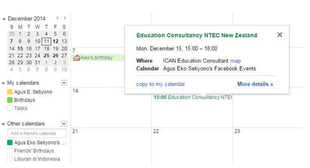 sinkronisasi event facebook dengan google calendar