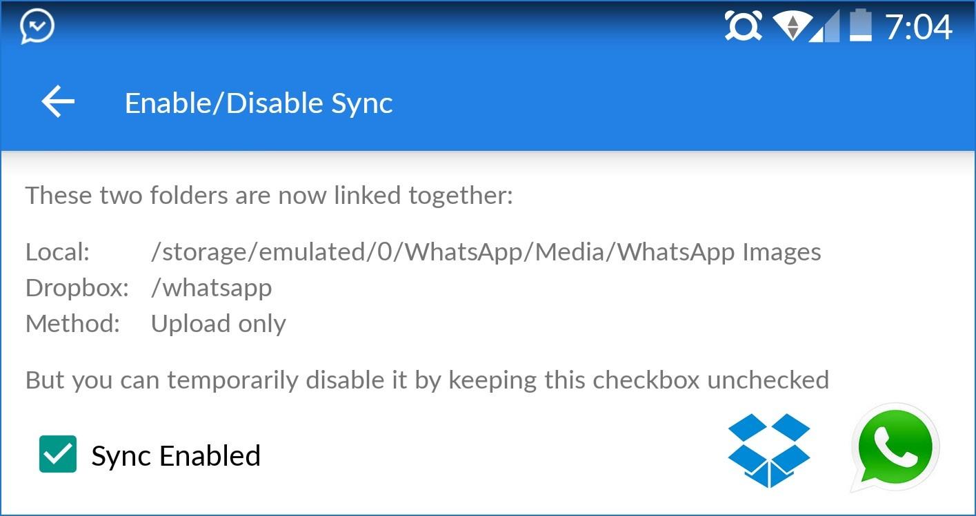 whatsapp dropbox