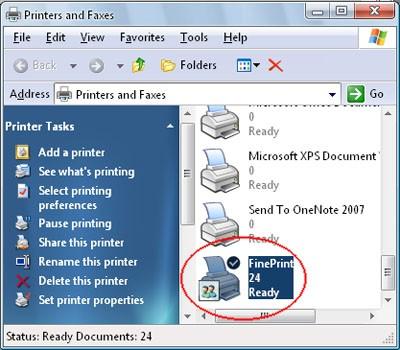 default printer kami